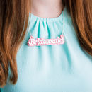 Bridesmaid Glitter Necklace