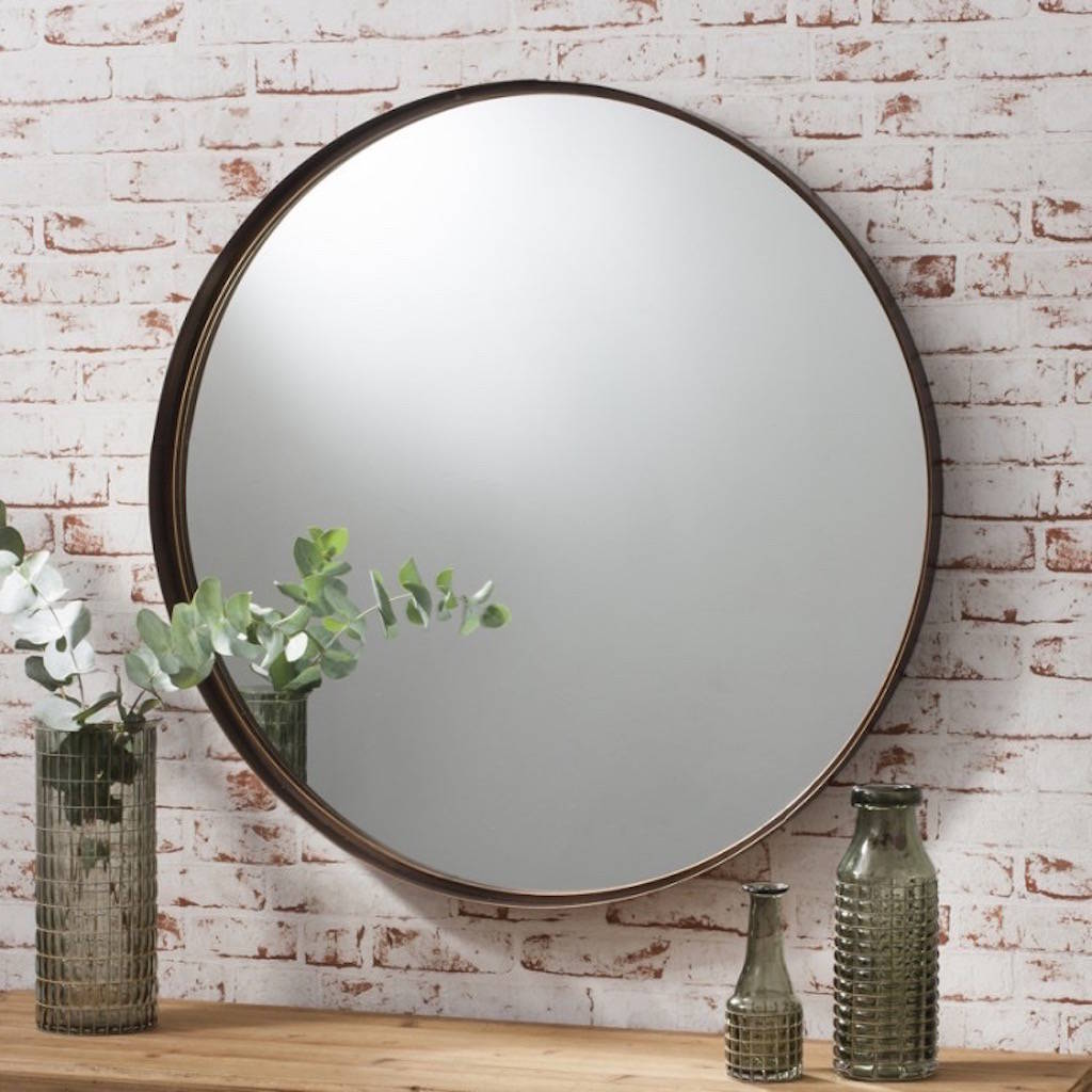 Bronzed Extra Large Circular Mirror By The Forest Amp Co