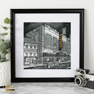 Personalised Art Deco Inspired Cinema Print