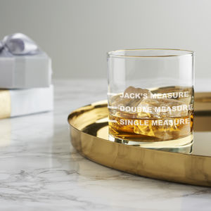 Personalised Drinks Measure Glass - gifts for him sale