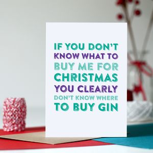 Buying Gin Funny Christmas Card - cards & wrap