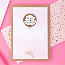 Bridesmaid Proposal Card Pink Ballloon