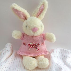 Baby Bunny Rattle - blankets, comforters & throws