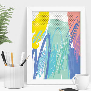 Colourful Abstract Art Print - modern & abstract