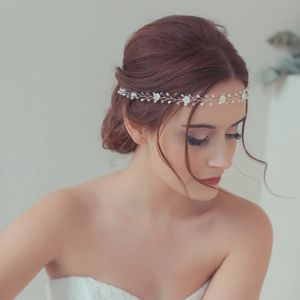 'Bryony' Crystal And Pearl Flower Wedding Hair Vine
