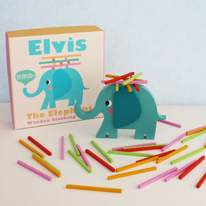 Wooden Elephant Stacking Game