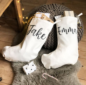 Personalised Simple Name Stocking