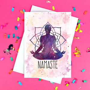 'Namaste' Yoga Friendship Card - cards sent direct