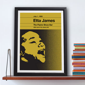 Etta James Stereo Typist Chess Series Print - posters & prints
