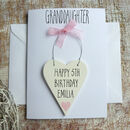 Granddaughter Personalised Birthday Card