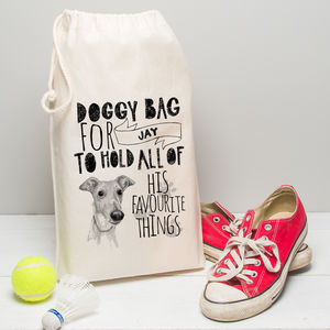 Personalised Illustrated Doggy Bag For Your Dog