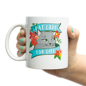 'Cat Lady For Life' Mug - dining room