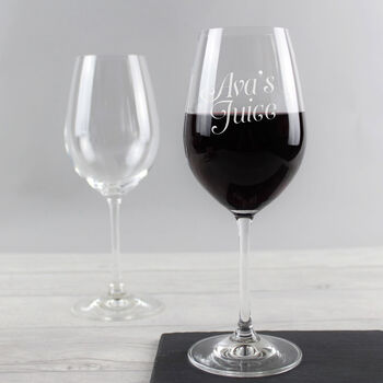 Personalised 'Juice' Wine Glass
