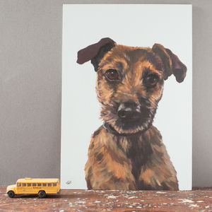 Pet Portrait Painting On Wood - pet-lover