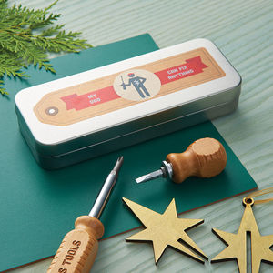 Personalised Screwdriver Set In A Tin - for young men