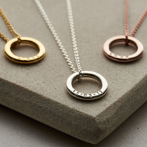 Personalised Mini Message Necklace - gifts for sisters