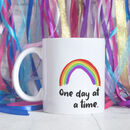 One Day At A Time Rainbow Ceramic Mug