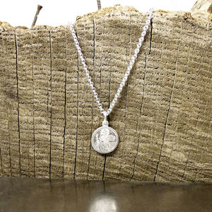 Silver Mini St Christopher Necklace - necklaces