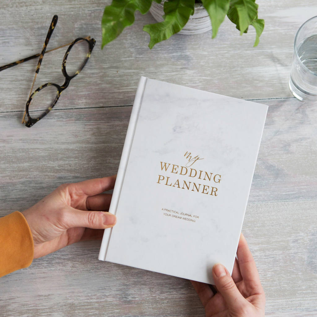 Wedding Planner Gifts: Marble And Gold Foil Wedding Planner By Blush And Gold