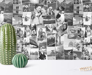 Personalised Family Memories Photo Wallpaper - try the trend: yellow and grey