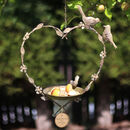 Father's Day Personalised Hanging Heart Bird Dish