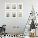 Nursery Ideas Peekaboo Lop Eared Rabbit Print