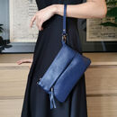 Chiswick Leather Mini Bag Navy Blue