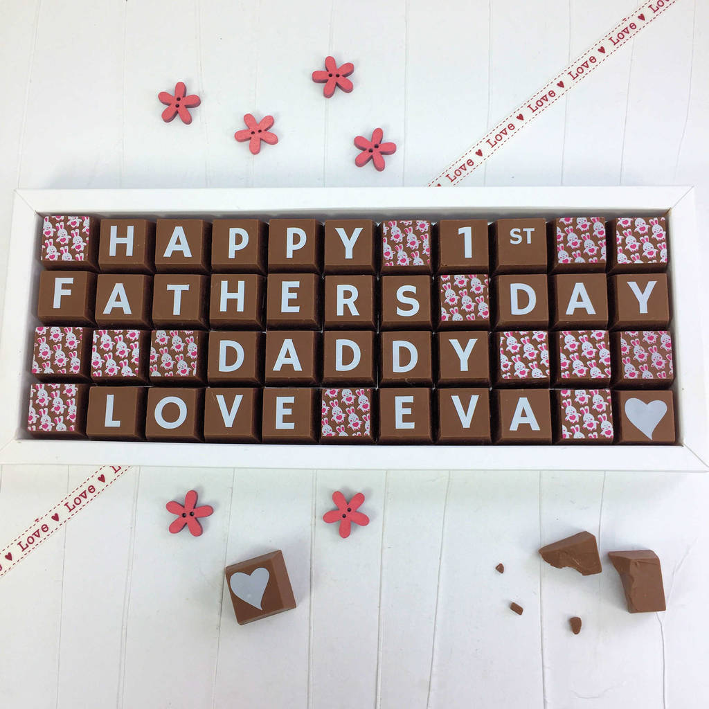 Personalised Chocolates For 1st Fathers Day