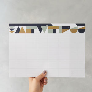 Weekly Planner Pad : Matt Gold - gifts for her