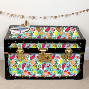 Tropical Fruits Tuck Box - bedroom