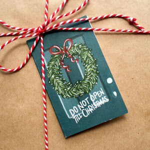 Hand Illustrated 'Wreath And Door' Christmas Gift Cards - cards & wrap