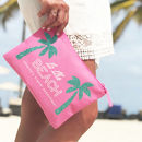 Club Tropicana Palm Tree Travel Bag