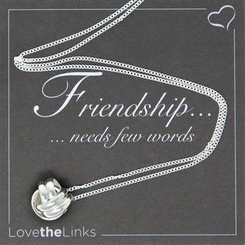 Friendship Knot Sterling Silver Necklace