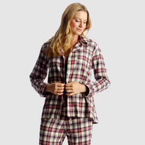 Women's Brushed Cotton Check P Js - lingerie & nightwear