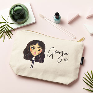 Personalised Character Make Up Pouch - make-up & wash bags