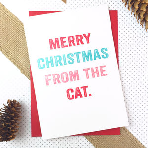 Merry Christmas From The Cat Christmas Card - new lines added