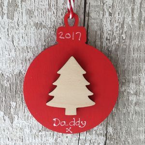 Personalised Christmas Tree Bauble Decoration