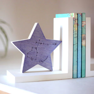 Personalised Horoscope Star Bookend