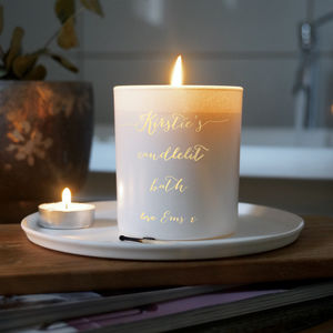 Personalised Candlelit Bath Scented Candle
