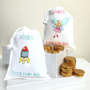 Personalised Tooth Fairy Bag With Chocolate Treats
