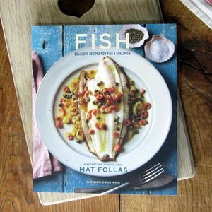 Signed 'Fish' Cookbook By Mat Follas - books
