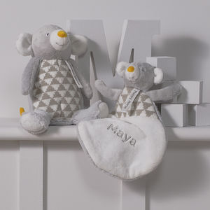 Personalised Mouse Comforter And Soft Toy Gift Set - shop by price