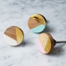 Geometric And Brass Knob