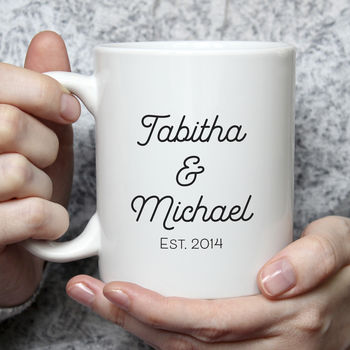 Personalised Couple Names Valentine Mug