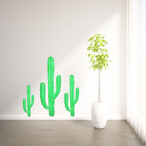 Cactus Set Wall Stickers - decorative accessories