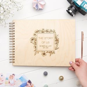 Personalised Anniversary Memory Book - new in wedding styling