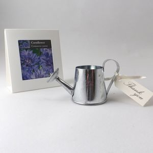 Flower Seeds And Watering Can Wedding Favours