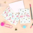 Tropical Flamingo Notecards And Envelopes