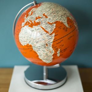 Illuminated LED Globe Light In Goldfish Orange - table lamps