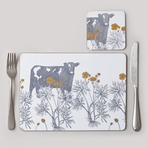 Cow And Buttercup Placemat Set Of Four